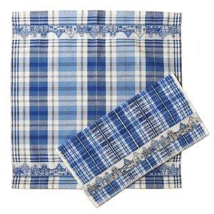 Typisch Hollands Küchentextilset - Fassade beherbergt Delfter Blau