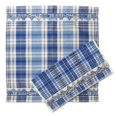 Typisch Hollands Kitchen textile set - Facade houses Delft blue