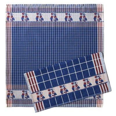 Typisch Hollands Kitchen Textile Set - Blue - Mills - Copy - Copy
