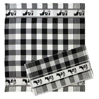 Typisch Hollands Kitchen textile cow black