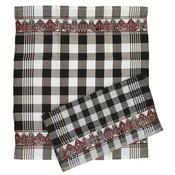 Typisch Hollands Keukentextiel gevel rood-zwart