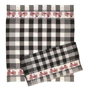 Typisch Hollands Küchentextilfassade rot-schwarz - Copy