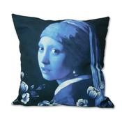 Typisch Hollands Kussenhoes -  Delfts blauw  - het meisje met de parel