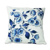 Typisch Hollands Cushion cover - Delft blue floral pattern