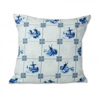 Typisch Hollands Cushion cover - Classic Tile print - Delft blue.