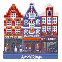 Typisch Hollands Magnet Delfter Blau-Pfannkuchen-Bikeshop