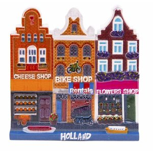 Typisch Hollands Magnet Cheese-Bike-Flowers Holland