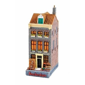 Typisch Hollands Gevelhuisje Coffee & Tea Jacob Hooij 12 cm