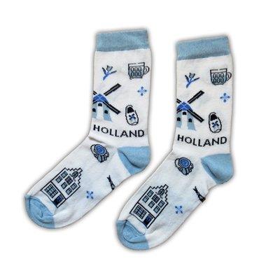 Typisch Hollands Herensokken - Holland Delfts maat 40-46
