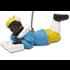 Typisch Hollands Zwarte Piet liest ein Buch