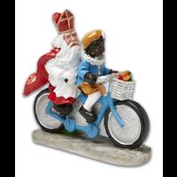 Typisch Hollands Sint und Piet auf dem Fahrrad