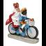 Typisch Hollands Sint en Piet op de fiets