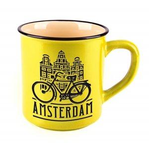 Typisch Hollands Retro große Campus-Tasse - Fahrrad Amsterdam