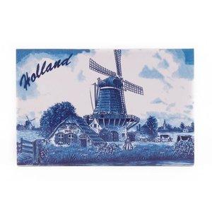 Typisch Hollands Dekorfliese 15 x 10 cm Delfter Blau Holland