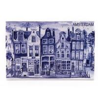 Typisch Hollands Dekorfliese 15 x 10 cm Delfter Blau Amsterdam