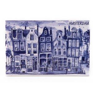 Typisch Hollands Decorative tile 15 x 10 cm Delft blue Amsterdam