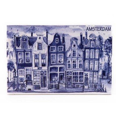 Typisch Hollands Siertegel 15 x 10 cm Delftsblauw Amsterdam