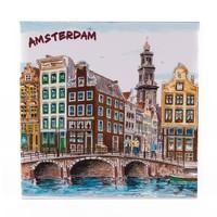 Typisch Hollands Dekorfliese 15 x 15 cm Farbe Amsterdam