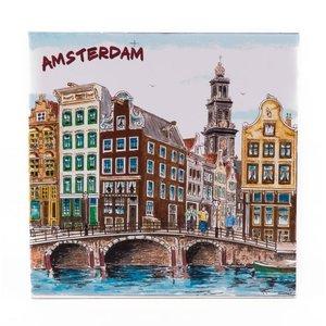 Typisch Hollands Decorative tile 15 x 15 cm Color Amsterdam