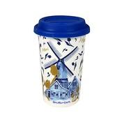 Typisch Hollands Coffee to go mok - Amsterdam Holland -Goud-Blauw