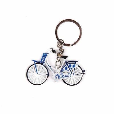 Typisch Hollands Schlüsselanhänger - Fahrrad Delfter Blau