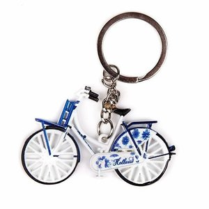Typisch Hollands Keychain - Bicycle - Delft blue