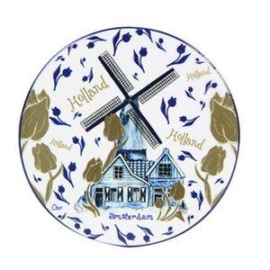 Typisch Hollands Luxury coaster Molen blue gold