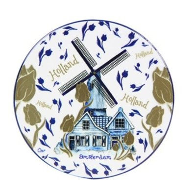 Typisch Hollands Coaster Windmill blue gold