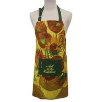 Memoriez Luxe keukenschort - Zonnebloemen - Vincent van Gogh
