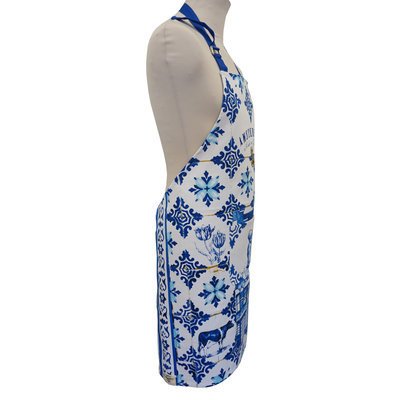 Typisch Hollands Luxury kitchen apron - Delft blue - Amsterdam