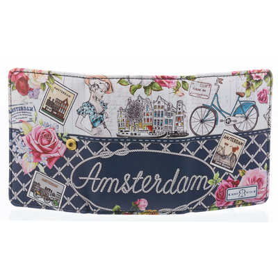 Robin Ruth Fashion Amsterdam Wallet - Flower Bicycle