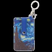 Typisch Hollands Kartenhalter-Schlüsselring-Vincent van Gogh-Sternenhimmel