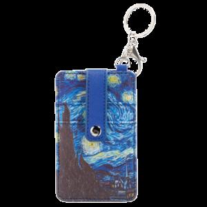 Typisch Hollands Pasjes houder-sleutelhanger-Vincent van Gogh- Sterrenhemel