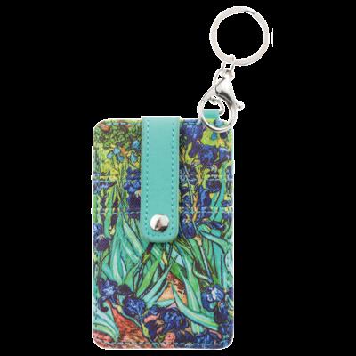Typisch Hollands Pasjes houder-sleutelhanger-Vincent van Gogh - Irissen