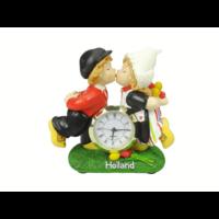 Typisch Hollands Kissing pair of Holland clock 10 cm