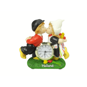 Typisch Hollands Kissing pair of Holland clock 10 cm