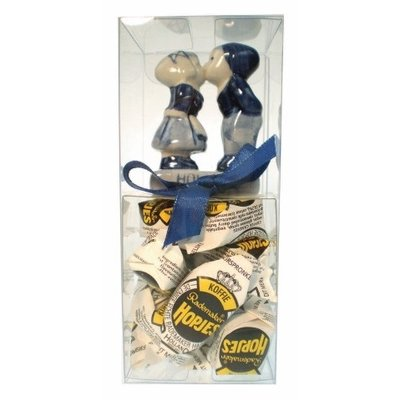 Typisch Hollands Gift box - windmill Delft blue 6 cm with hops. - Copy