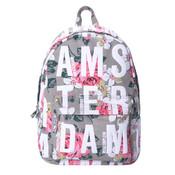 Robin Ruth Fashion Backpack - Flowers - Beige