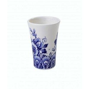 Typisch Hollands Shotglaasje Delfts blauw - bloemmotief