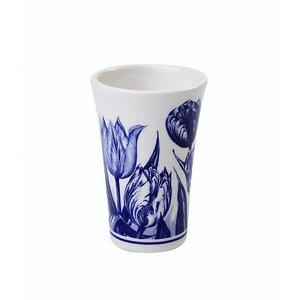 Typisch Hollands Shotglaasje Delfts blauw - Tulpen