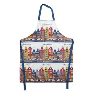 Typisch Hollands Cooking Apron - Amsterdam - Facades - Color