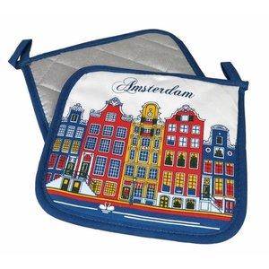 Typisch Hollands Pannelappen Amsterdam facade houses