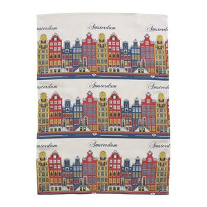 Typisch Hollands Tea towel facade color - Amsterdam