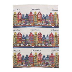 Typisch Hollands Theedoek gevel kleur - Amsterdam