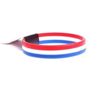 Typisch Hollands Armbandje - Rubber - rood/wit/blauw