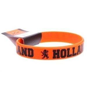 Typisch Hollands Armband - Gummi - Orange - Schwarzer Text
