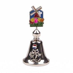 Typisch Hollands Handbell Farbmühle Holland Silber glänzend