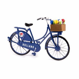 Typisch Hollands Miniaturfahrrad - Blau (Holland) 13,5 cm