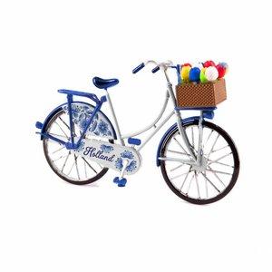 Typisch Hollands Miniature bicycle - Delft Blue (Holland) 13.5 cm