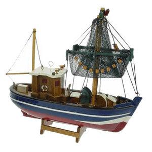 Typisch Hollands Vissersboot met netten 24cm (kotter)